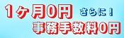 1年間無料+初期費用0円キャンペーン